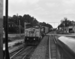 CSX 7777 as seen from cab of SD40-2T